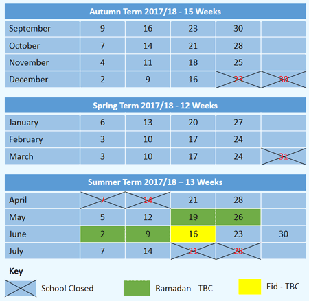 Term Calendar 2017-18